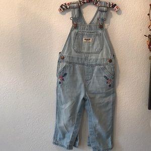 Toddler girl oshKosh overalls